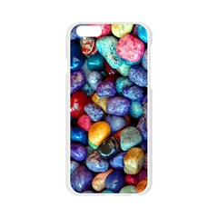 Colorful Rocks Stones Background Apple Seamless iPhone 6/6S Case (Transparent)