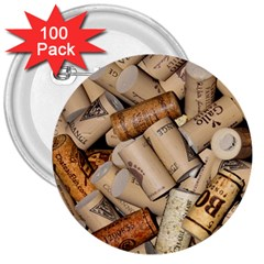 Corks Array Background Shape Wine 3  Buttons (100 pack)