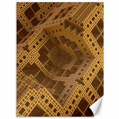 Fractal Abstract Rendering Backdrop Canvas 36  x 48