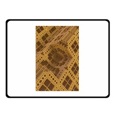 Fractal Abstract Rendering Backdrop Double Sided Fleece Blanket (Small)