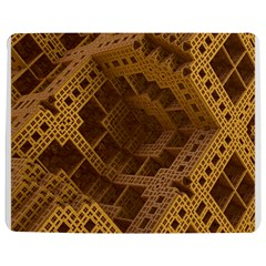 Fractal Abstract Rendering Backdrop Jigsaw Puzzle Photo Stand (Rectangular)