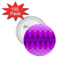 Geometric Cubes Pink Purple Blue 1.75  Buttons (100 pack)