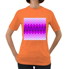 Geometric Cubes Pink Purple Blue Women s Dark T-Shirt