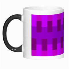 Geometric Cubes Pink Purple Blue Morph Mugs