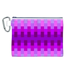 Geometric Cubes Pink Purple Blue Canvas Cosmetic Bag (L)