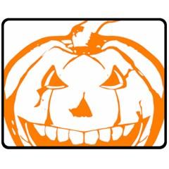 Halloween Pumpkin Scary Bad Scarry Fleece Blanket (Medium)