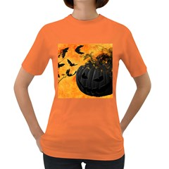 Pumpkin Bats Night Creepy Darkness Women s Dark T-Shirt