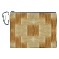 Texture wood Canvas Cosmetic Bag (XXL)