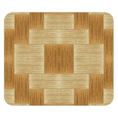 Texture wood Double Sided Flano Blanket (Small)