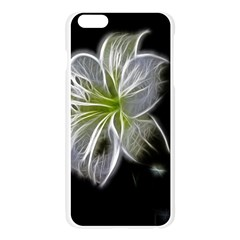 White Lily Flower Nature Beauty Apple Seamless iPhone 6 Plus/6S Plus Case (Transparent)