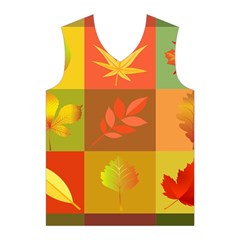 Autumn Leaves Colorful Fall Foliage Men s Basketball Tank Top
