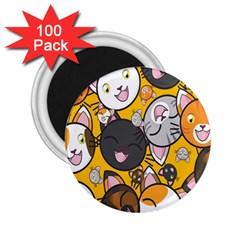 Cats Cute Kitty Kitties Kitten 2.25  Magnets (100 pack)