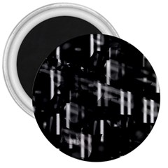 Black and white neon city 3  Magnets