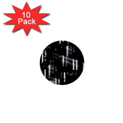 Black and white neon city 1  Mini Buttons (10 pack)