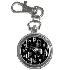 Black and white neon city Key Chain Watches