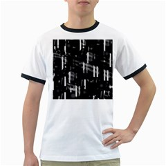 Black and white neon city Ringer T-Shirts