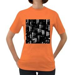 Black and white neon city Women s Dark T-Shirt