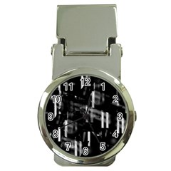 Black and white neon city Money Clip Watches