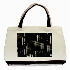 Black and white neon city Basic Tote Bag (Two Sides)