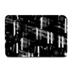 Black and white neon city Plate Mats