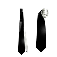 Black and white neon city Neckties (One Side)
