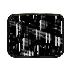 Black and white neon city Netbook Case (Small)