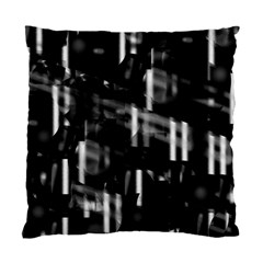 Black and white neon city Standard Cushion Case (Two Sides)