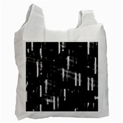 Black And White Neon City Recycle Bag (two Side)