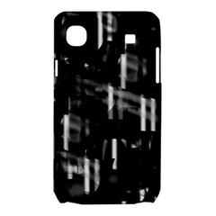 Black and white neon city Samsung Galaxy SL i9003 Hardshell Case