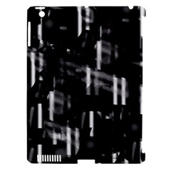 Black and white neon city Apple iPad 3/4 Hardshell Case (Compatible with Smart Cover)