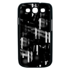 Black and white neon city Samsung Galaxy S III Case (Black)