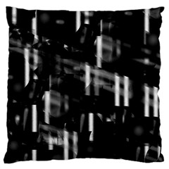 Black and white neon city Large Cushion Case (Two Sides)