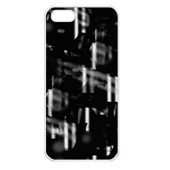 Black and white neon city Apple iPhone 5 Seamless Case (White)