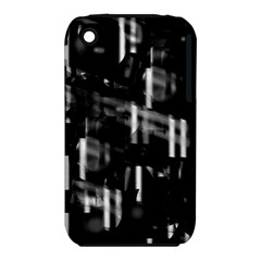 Black and white neon city Apple iPhone 3G/3GS Hardshell Case (PC+Silicone)