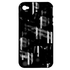 Black and white neon city Apple iPhone 4/4S Hardshell Case (PC+Silicone)