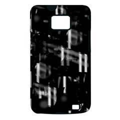Black and white neon city Samsung Galaxy S II i9100 Hardshell Case (PC+Silicone)