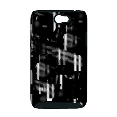 Black and white neon city Samsung Galaxy Note 2 Hardshell Case (PC+Silicone)