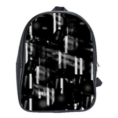 Black and white neon city School Bags (XL)