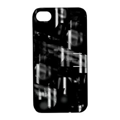 Black and white neon city Apple iPhone 4/4S Hardshell Case with Stand