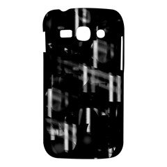 Black and white neon city Samsung Galaxy Ace 3 S7272 Hardshell Case