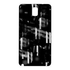 Black and white neon city Samsung Galaxy Note 3 N9005 Hardshell Back Case