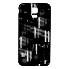 Black and white neon city Samsung Galaxy S5 Back Case (White)