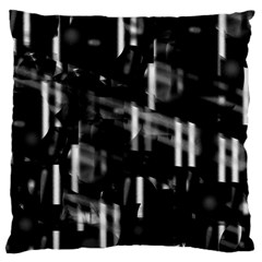 Black and white neon city Standard Flano Cushion Case (Two Sides)