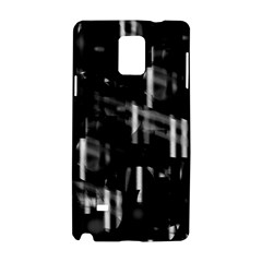Black and white neon city Samsung Galaxy Note 4 Hardshell Case