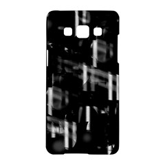 Black and white neon city Samsung Galaxy A5 Hardshell Case