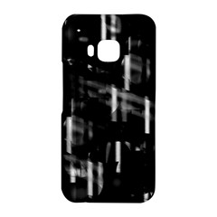 Black and white neon city HTC One M9 Hardshell Case