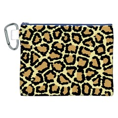 Pink Leopard Canvas Cosmetic Bag (XXL)