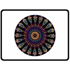 Colorful Prismatic Chromatic Fleece Blanket (Large)
