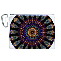 Colorful Prismatic Chromatic Canvas Cosmetic Bag (XL)