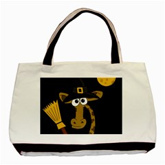 Halloween giraffe witch Basic Tote Bag (Two Sides)